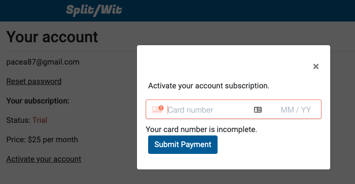 activate your subscription
